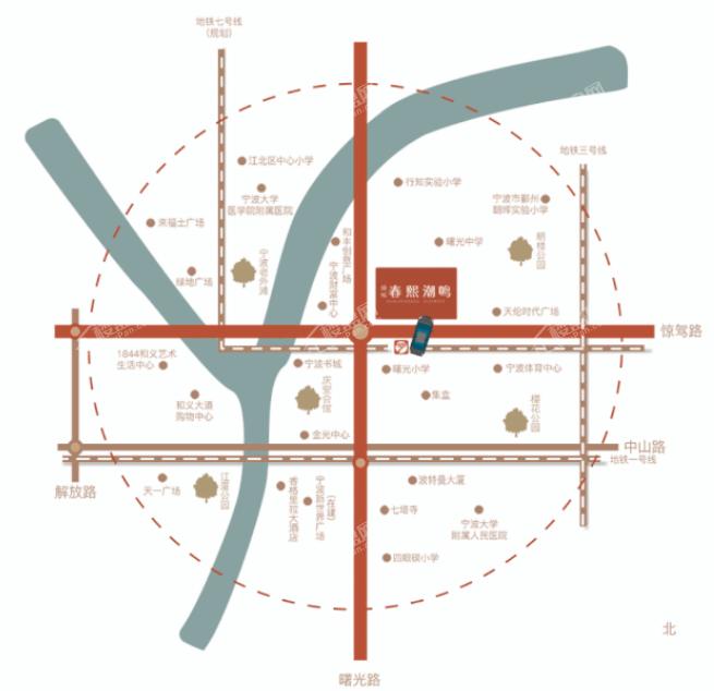 绿城·春熙潮鸣位置图