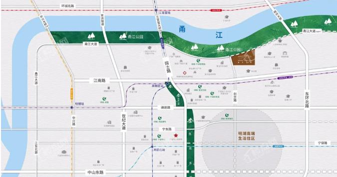绿城春月江澜位置图
