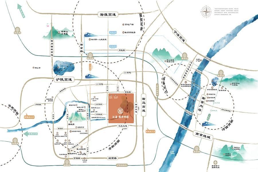江海颐和田园位置图