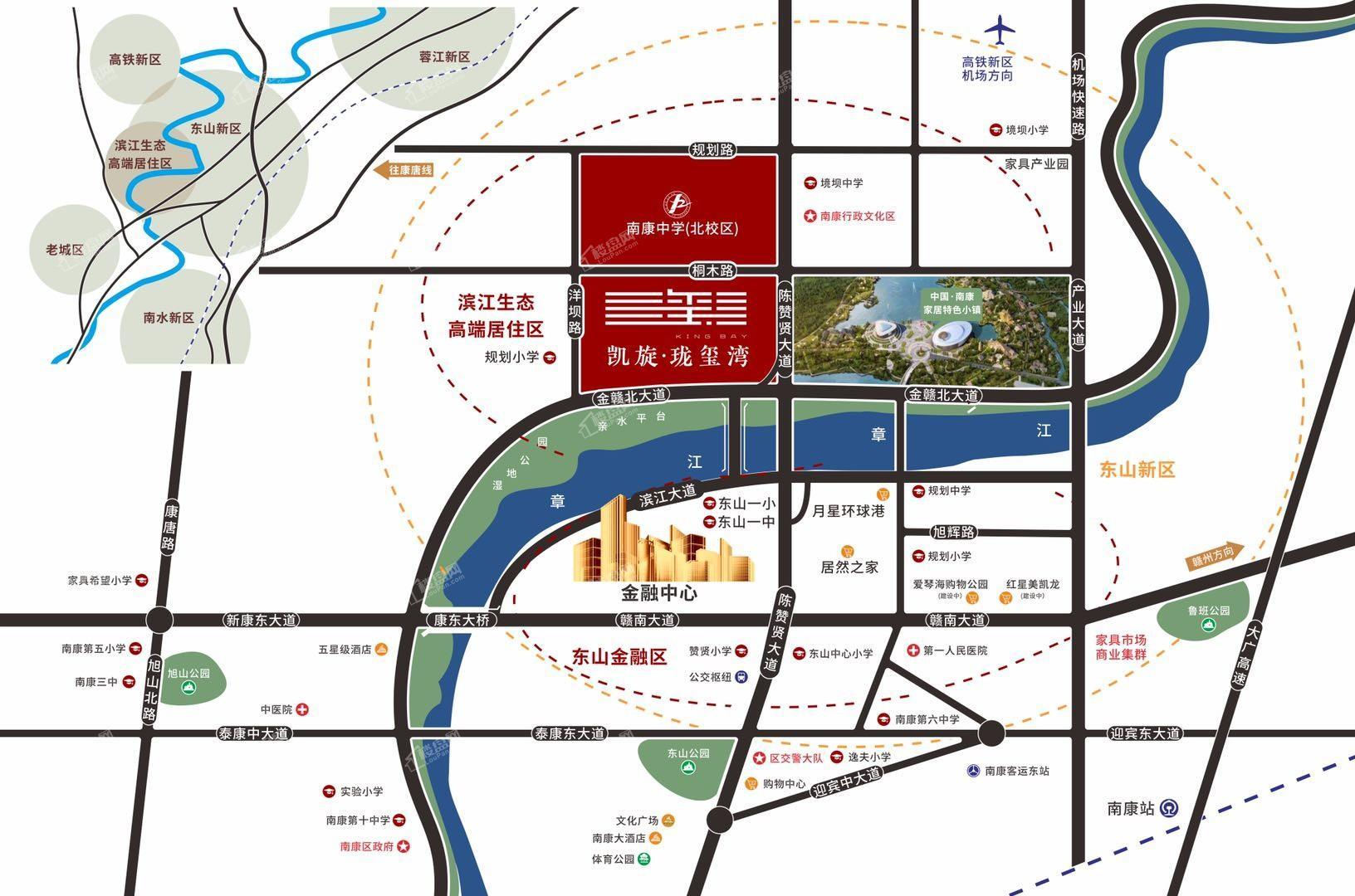 凯旋珑玺湾位置图