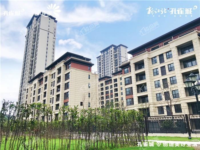 新江北孔雀城实景图