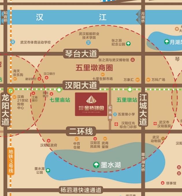中国中铁·金桥璟园位置图