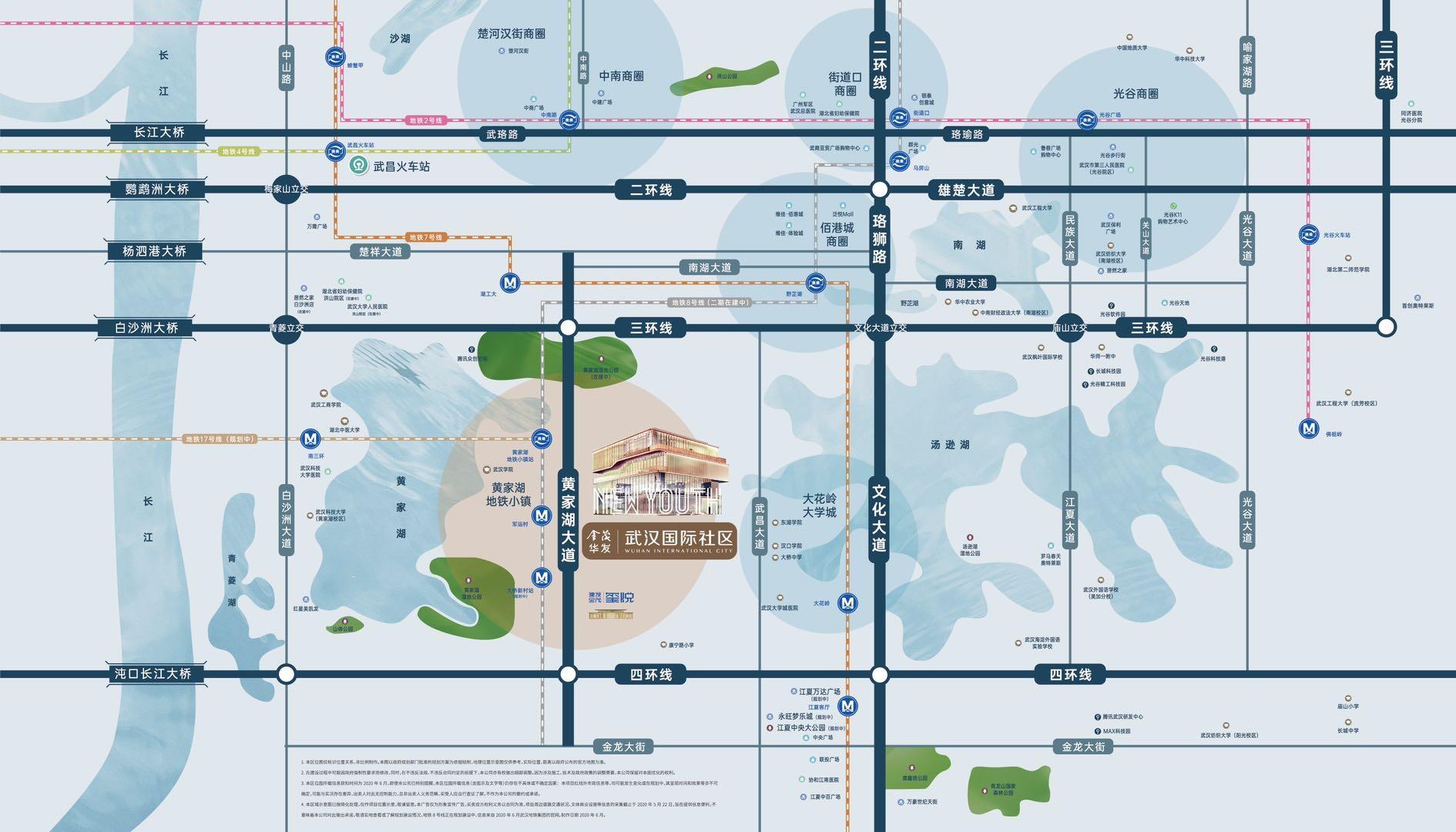 金茂华发武汉国际社区位置图