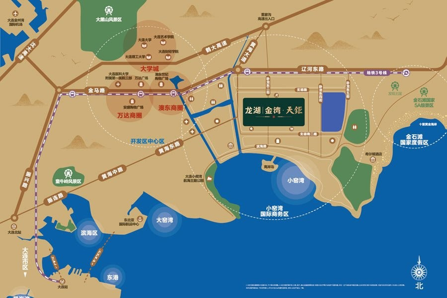 龙湖金湾天钜位置图