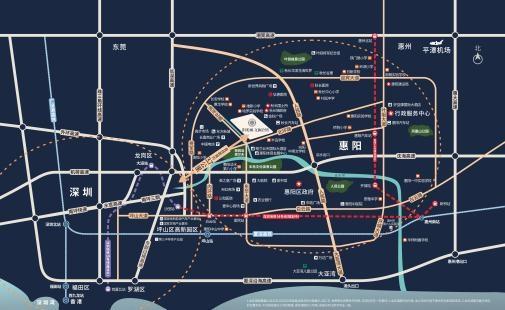 陽光城·文瀾公館位置圖