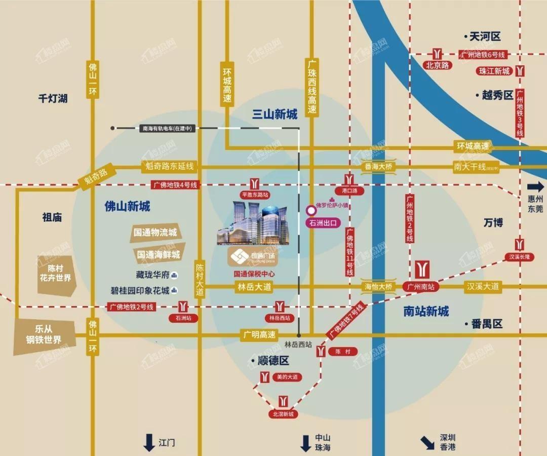 国通广场位置图