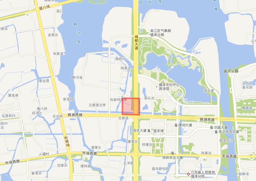 吴江WJ-J-2021-006号地块项目位置图