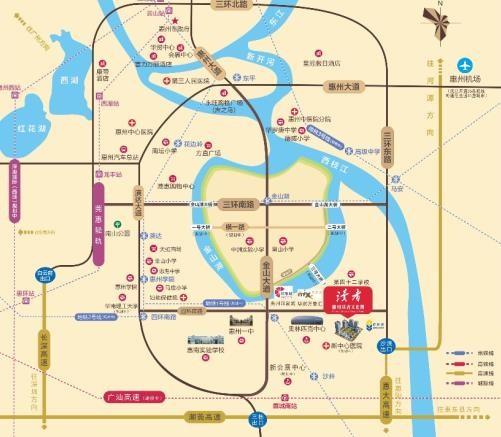 惠州讀者文化園位置圖