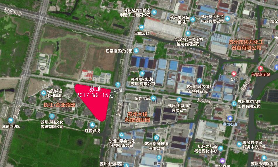 苏地2017-WG-15号地块位置图