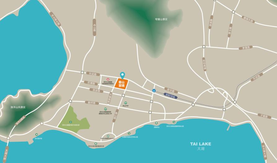 香山慧境商务中心位置图