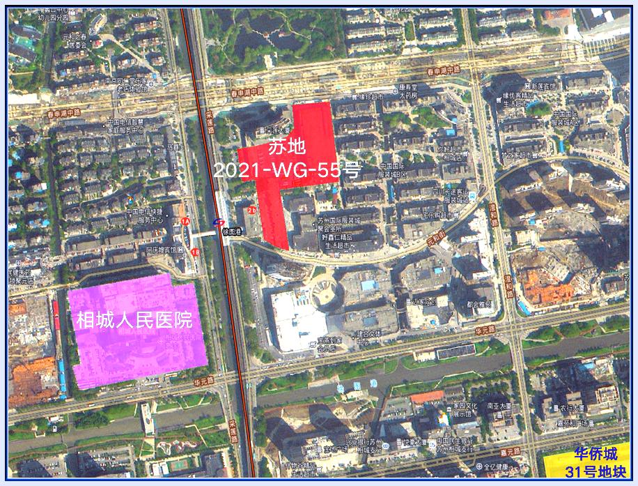 苏地2021-WG-55号地块位置图