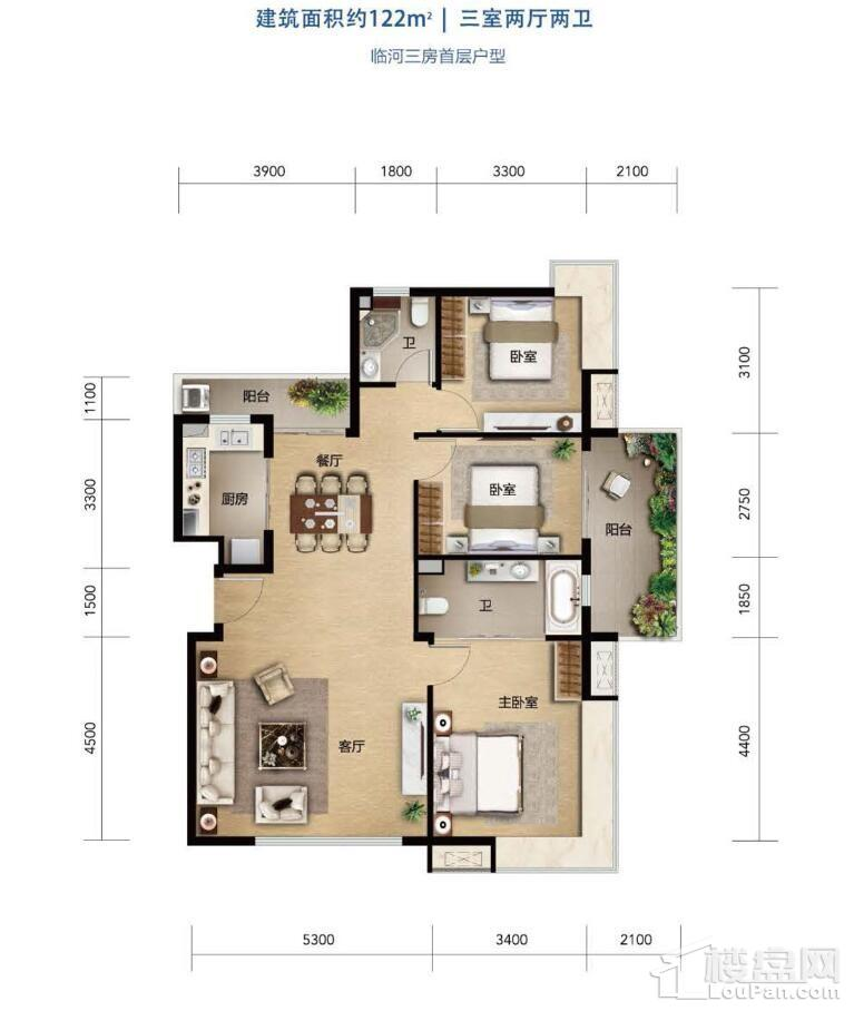 中信国安·北海第一城第三块地洋房户型图3