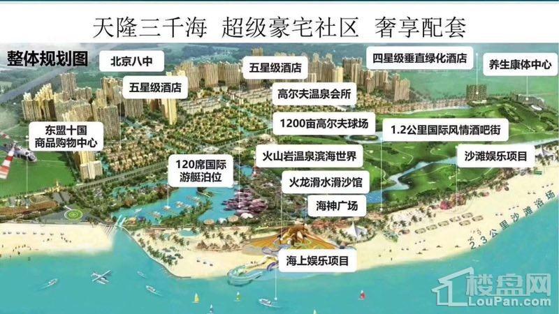 天隆三千海整体规划图