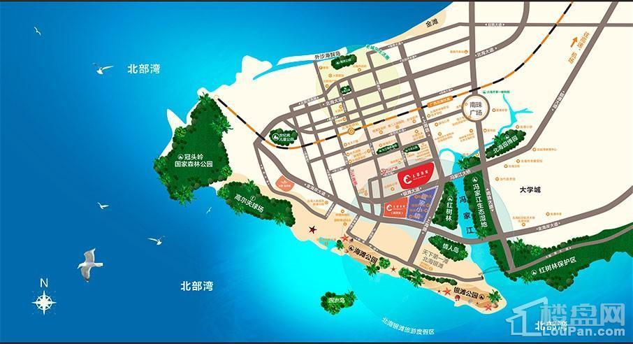 大都锦城区位图
