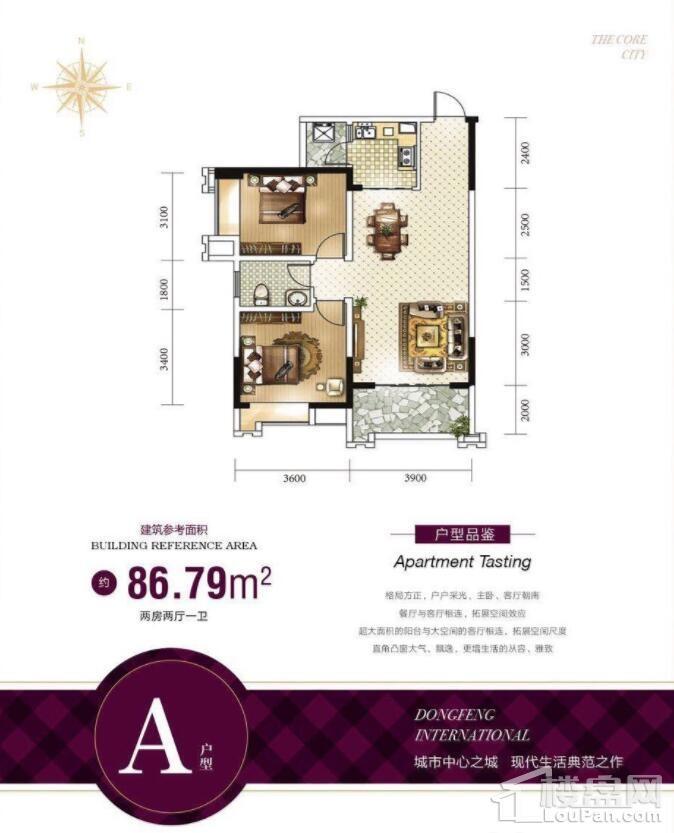 东峰国际公寓户型图1
