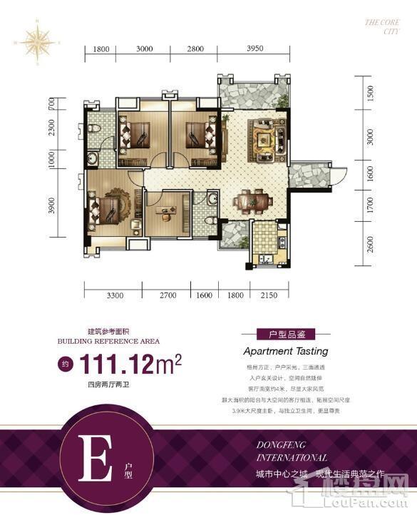 东峰国际公寓户型图5