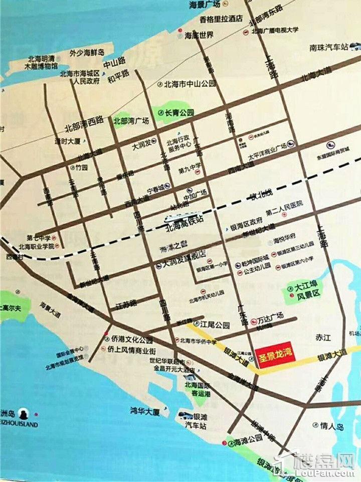 圣景龙湾区位图