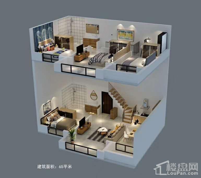 奥林匹克花园复式公寓户型图3