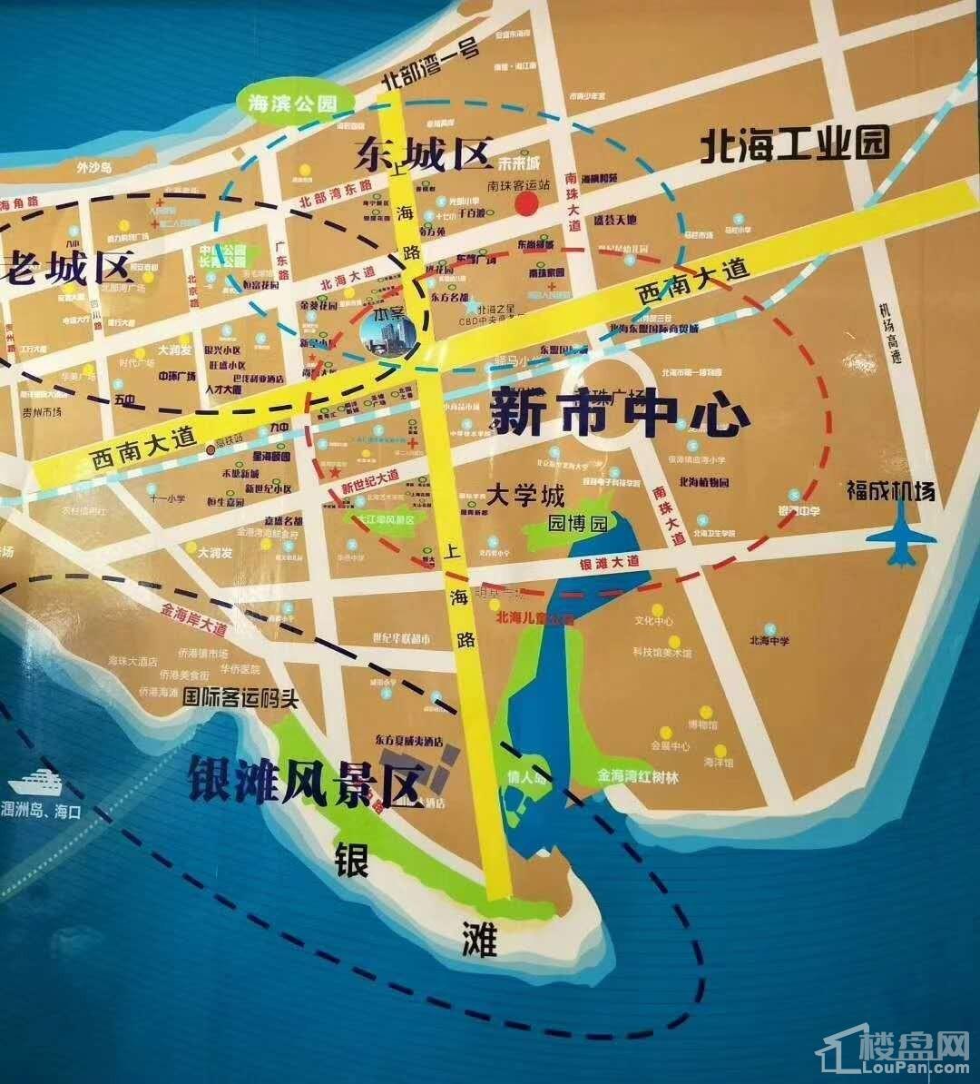 太平洋商业广场区位图