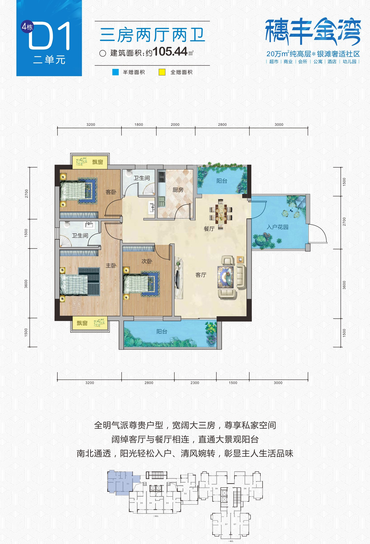 穗丰金湾户型图3