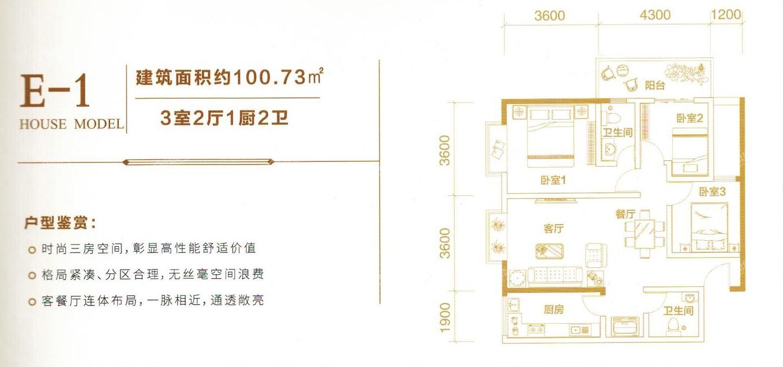 麒麟城投·中和苑户型图5