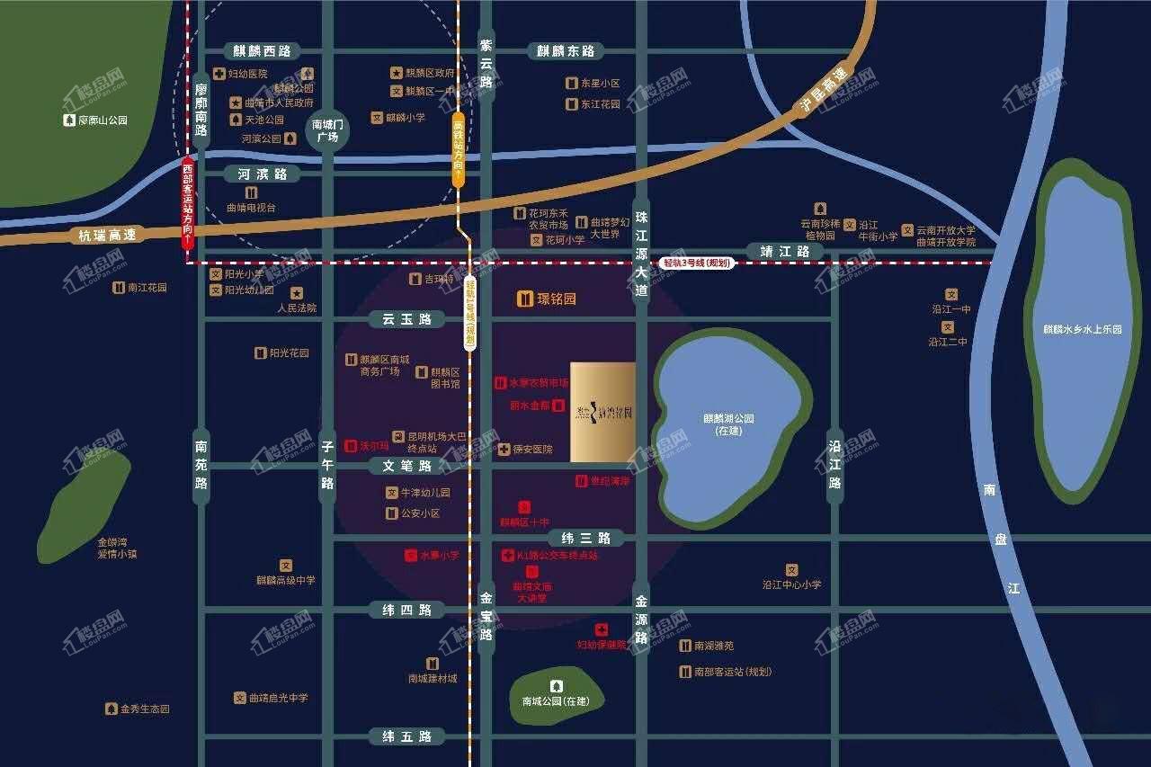 沁湾铭园区位图