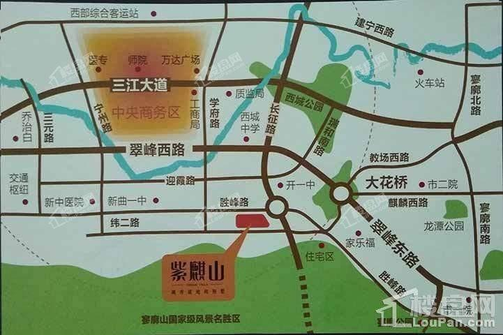 紫麒山区位图