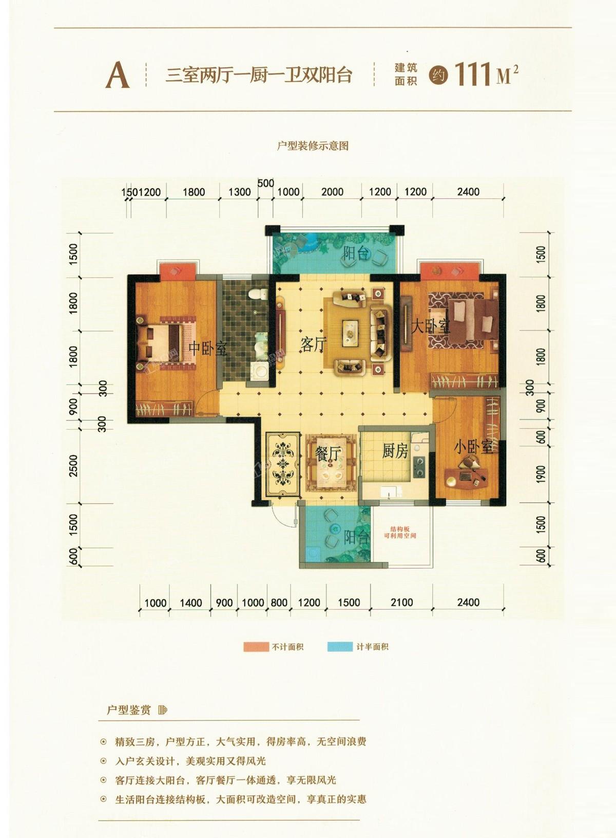曲靖九福·旺角时光户型图1