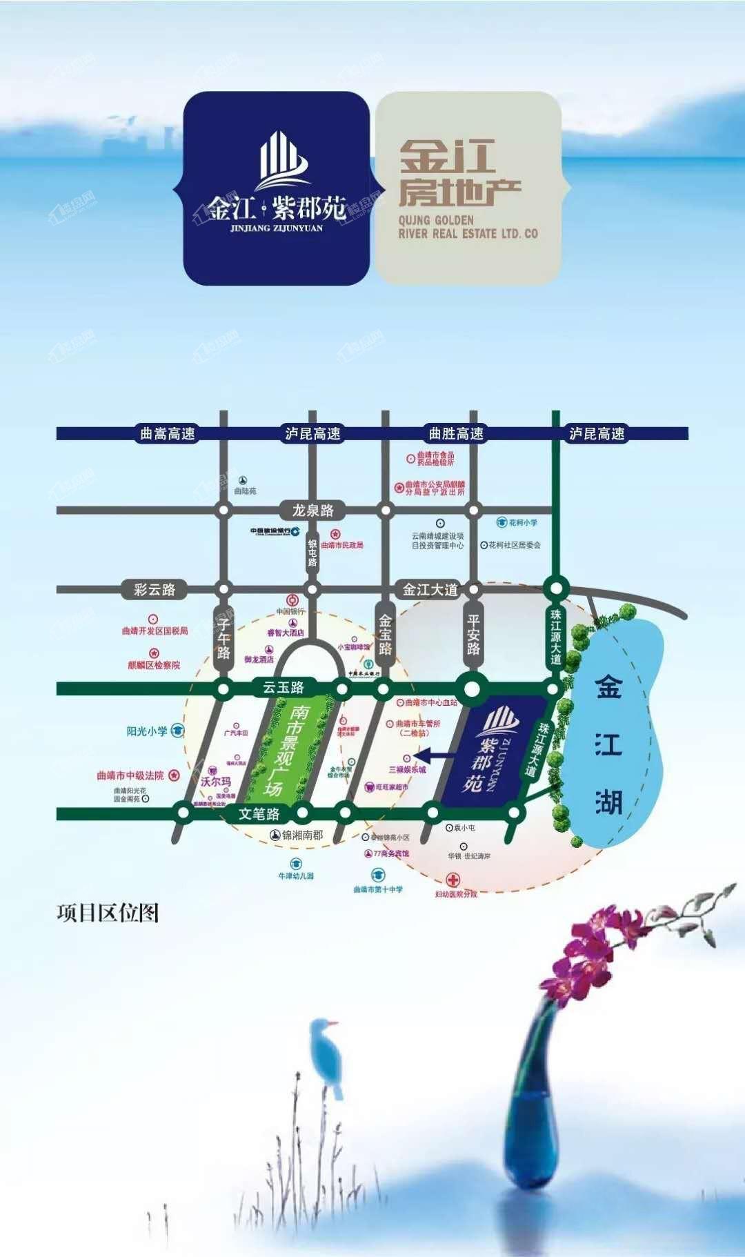 金江·紫郡苑区位图