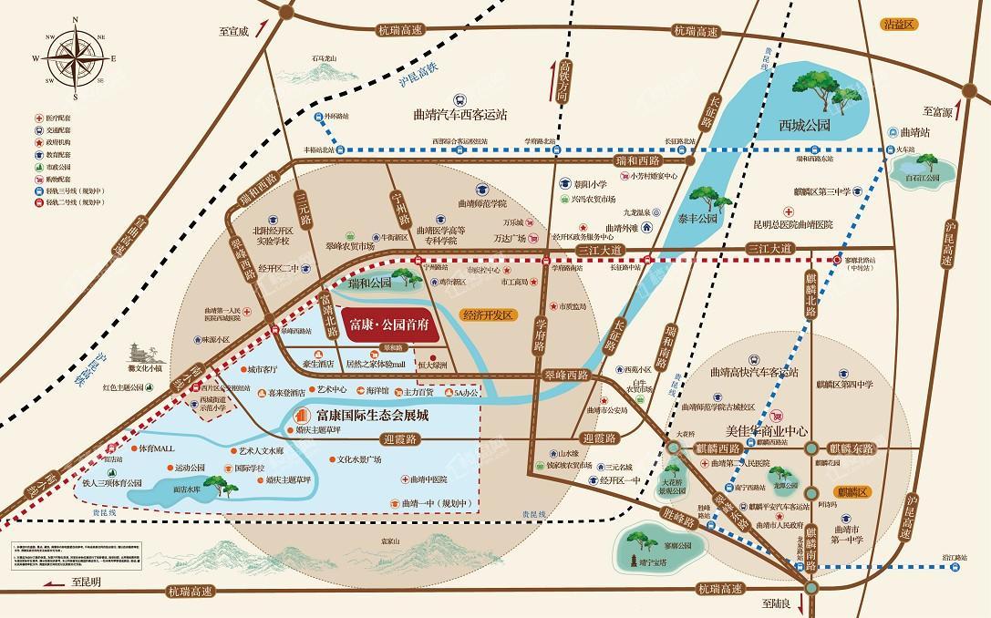 富康·公园首府区位图