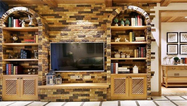 文化石电视墙装饰效果