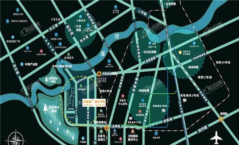 孔雀城·新京学府区位图