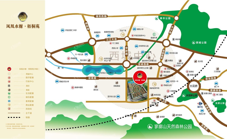 凤凰水榭·梧桐苑区位图