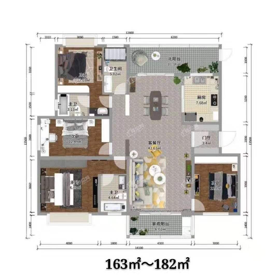 沾益印象五期六期住宅户型图4