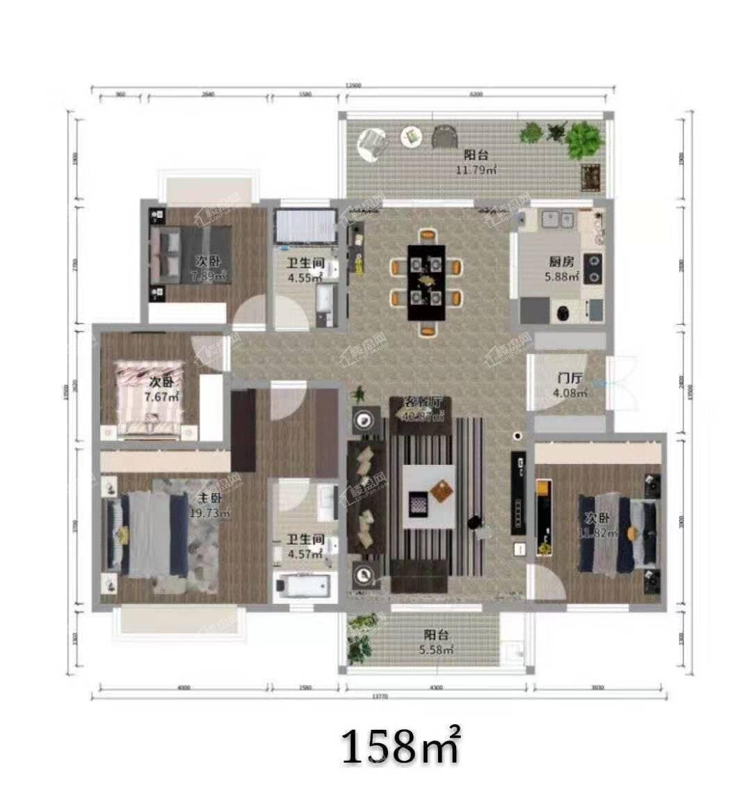沾益印象五期六期住宅户型图3