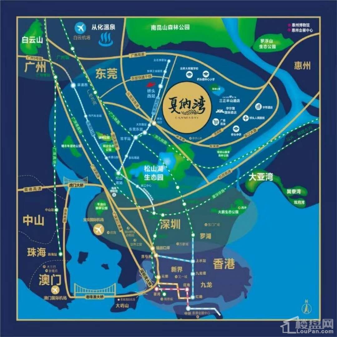 戛纳湾区位交通图
