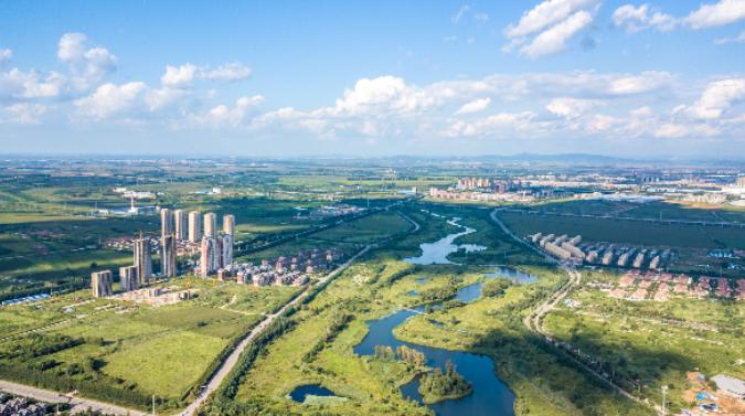 蒲河景观带俯视图