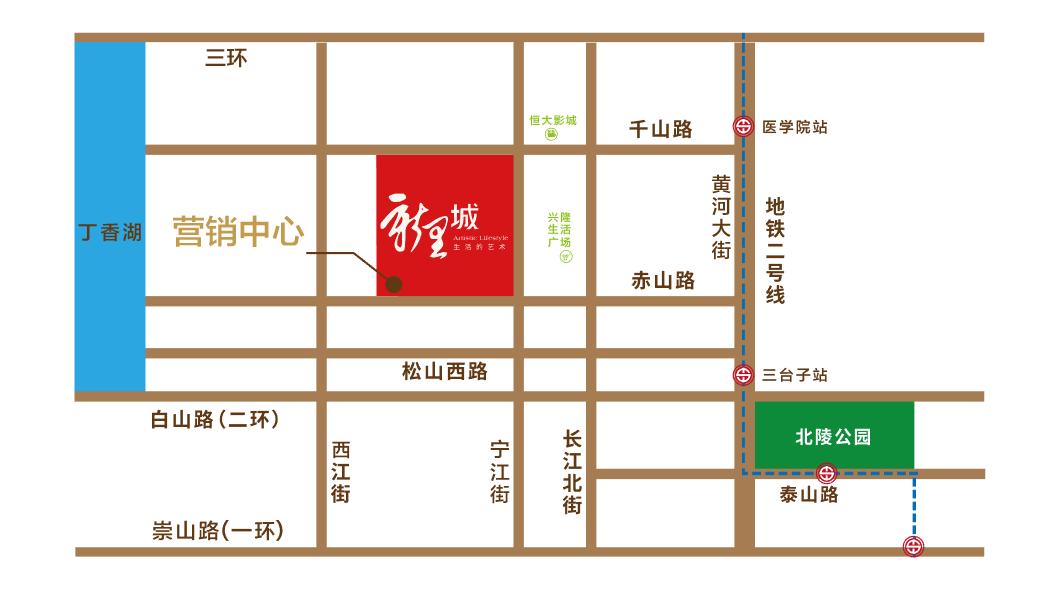绿地新里城位置图