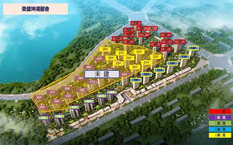 荣盛坤湖郦舍鸟瞰图