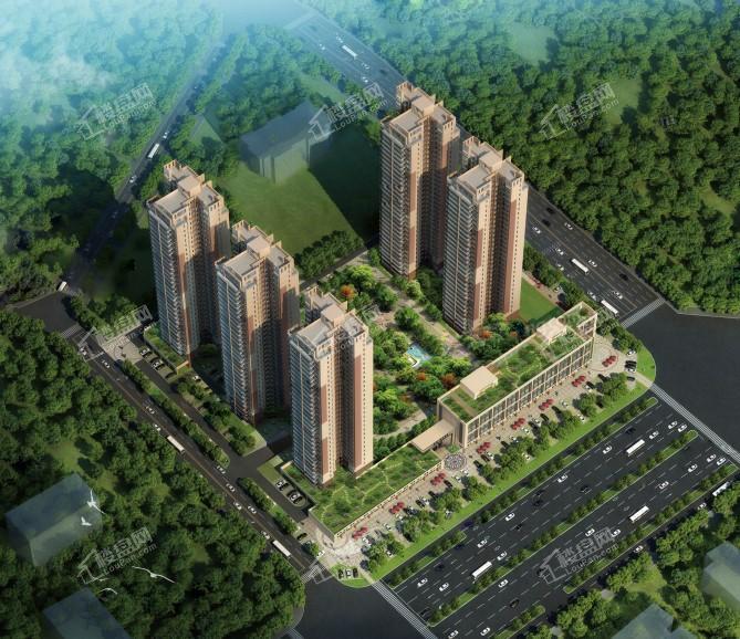 钦州国贸城市花园鸟瞰图