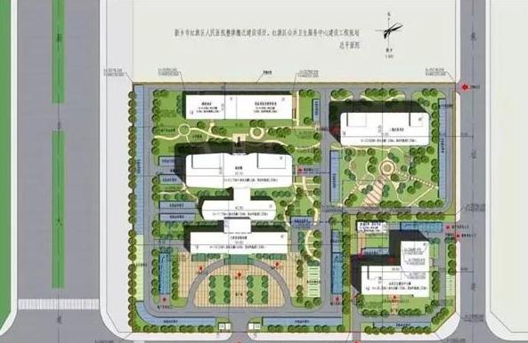 红旗区医院总平面图