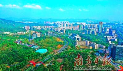 广州开发区拟将科学城扩容7倍。图为广州科学城航拍图。通讯员 李剑锋 摄