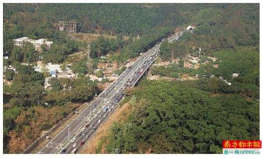 华南快速路石门堂山隧道扩建工程。 南都记者 何玉帅 摄