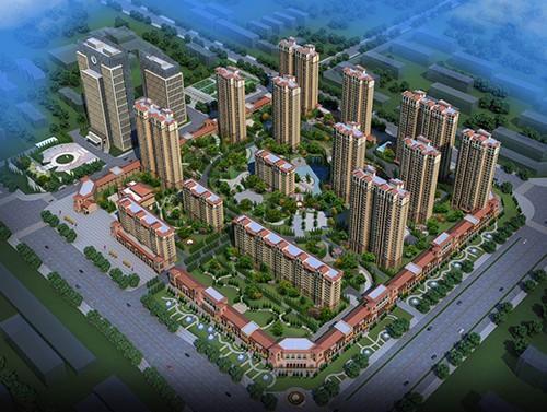 涿州高铁站附近现房天保绿城规划沙盘