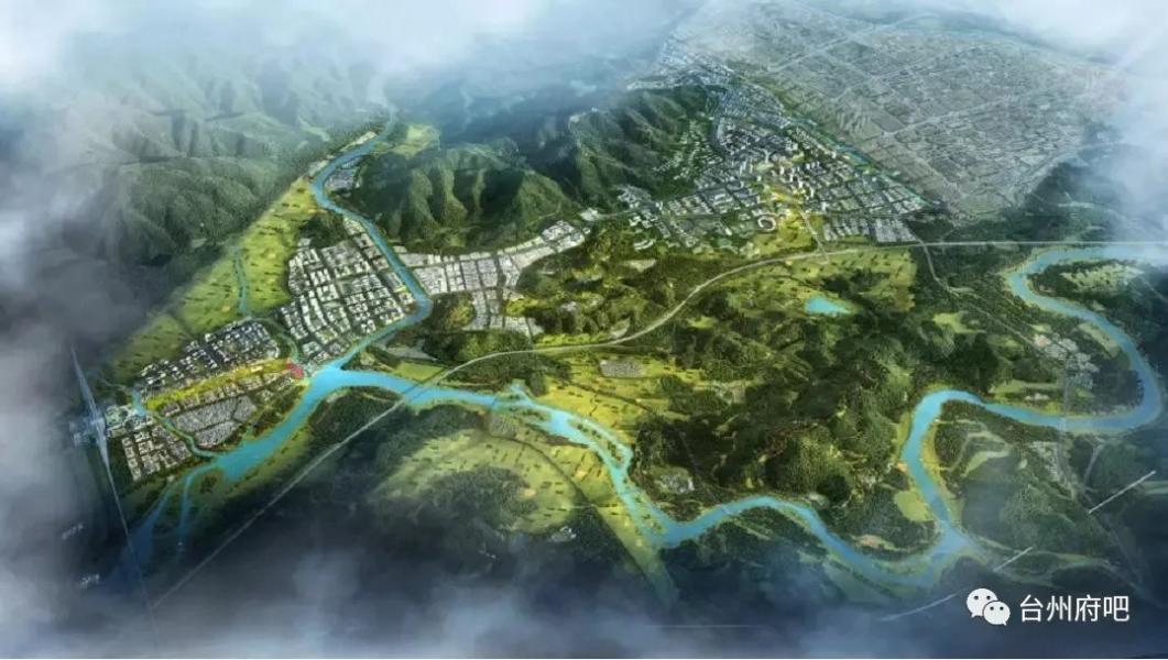 ▲仙居高铁新城总体鸟瞰图