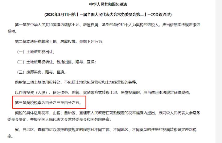 扬州房地产契税