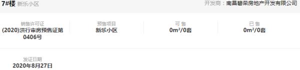 【每日预售证 】碧桂园正荣湾棠昨日领取一张预售证
