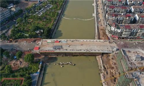芦溪东洲大桥最新进展报告,主体已基本完工