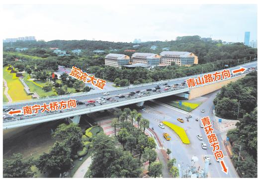 南宁大桥—荔滨大道将进行立交改造