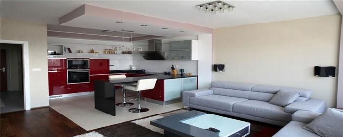客厅与厨房一体怎么隔